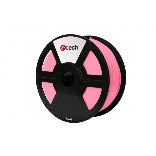 Tisková struna (filament) C-TECH, PLA, 1,75mm, 1kg, růžová