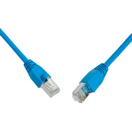 SOLARIX patch kabel CAT6 UTP PVC 1m modrý snag-proof