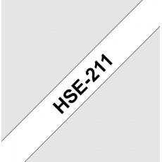 HSE211 smršťovací bužírka, bílá/černá, šíře 5,8mm