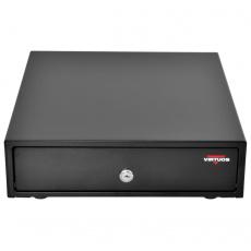 Pokladní zásuvka mikro EK-300C - s kabelem, pořadač 3/4, 9-24V, černá