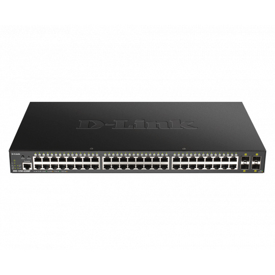 D-Link DGS-1250-52XMP Smart switch 48x Gb PoE+, 4x 1G/10G SFP+, 370W
