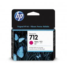 HP 712 Inkoustová náplň purpurová (29ml); 3ED68A