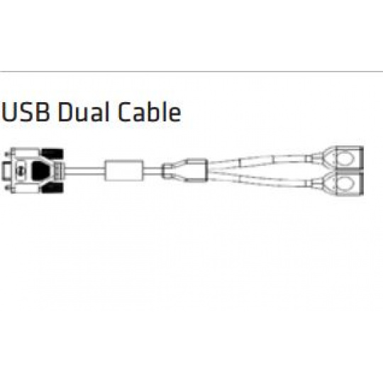 Honeywell Dual USB type A breakout Y-cable