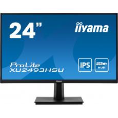 """24"""" iiyama XU2493HSU-B1: IPS, FullHD@75Hz, 250cd/m2, 4ms, VGA, HDMi, DP, USB, černý"""