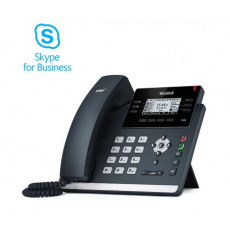 """Yealink T42S Skype for Business tel., PoE, 2,7"""" 192x64 LCD, 15 prog.tl., GigE"""