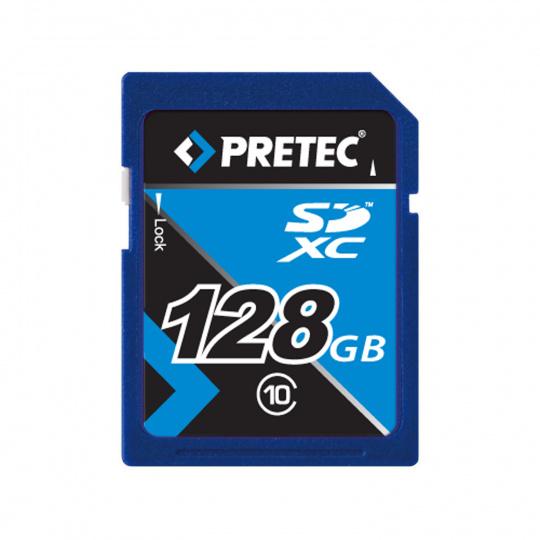 Pretec SDXC 128GB class 10 memory card
