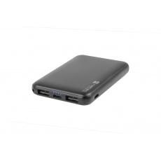 Natec Compact Power bank 5000mAh, černý, Type-C, micro USB