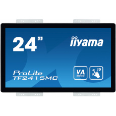 "24"" iiyama TF2415MC-B2: VA, FullHD, capacitive, 10P, 350cd/m2, VGA, DP, HDMI, černý"