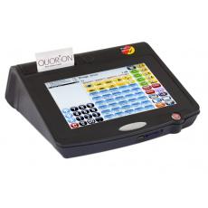 Registrační pokladna Qtouch 10 Black RSRS, bez tiskárny, Lan, Dallas