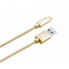 ALIGATOR PREMIUM Datový kabel 2A, Lightning zlatý