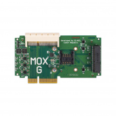 Turris MOX G, modul routeru Turris MOX, 1× mPCIe slot, 1× SIM slot, 1× 64 pin konektor pro připojení dalších modulů