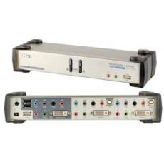 ATEN KVMP DVI USB, hub, aud. 7.1 aud., podpora 3D