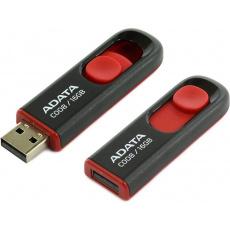 16GB USB ADATA C008  černo/červená (potisk)