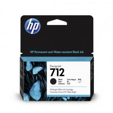 HP 712 Inkoustová náplň černá (38ml); 3ED70A