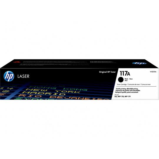 HP 117A Black Laser Toner, W2070A