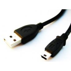 USB kabel A-MINI 5PM 2.0 2m HQ 1,8m
