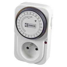 Mechanická spínací zásuvka 3680W - denní (P5502)