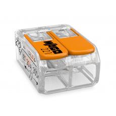 Elektro WAGO Spojovací svorka COMPACT pro všechny druhy vodičů, Max. 4 mm², 2 vodiče s páčkami