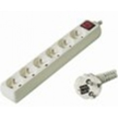 Prodlužovací přívod 230V, 5m, 6 zásuvek + vypínač