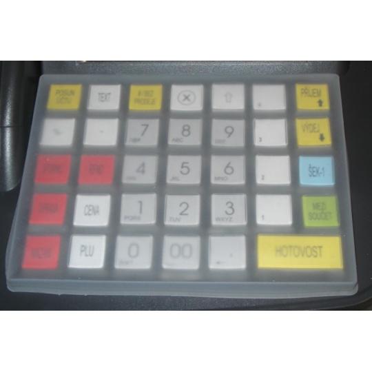 Ochranný silikonový kryt na klávesnici registrační pokladny CHD 3050