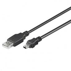 PremiumCord Kabel USB 2.0, A-B mini, 5pinů, 5m