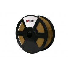Tisková struna (filament) C-TECH, PLA, 1,75mm, 1kg, hnědá