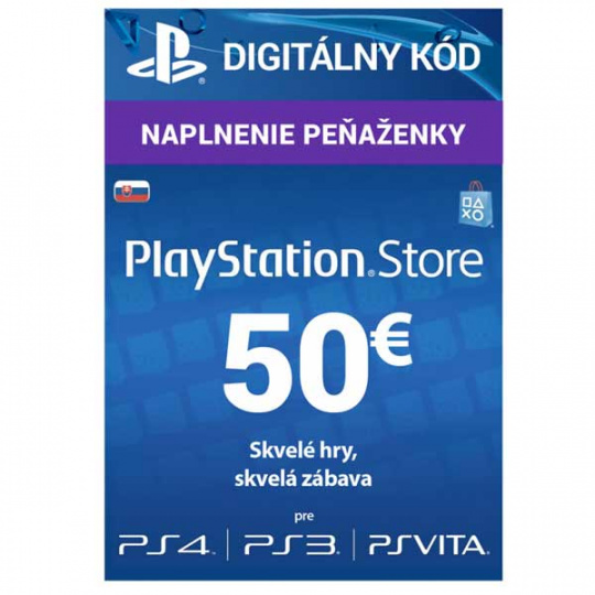 PlayStation Live Cards 50 EUR Hang pro SK PS Store