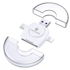 VIKING ČTEČKA PAMĚŤOVÝCH KARET V4 USB3.0 4V1 bílá