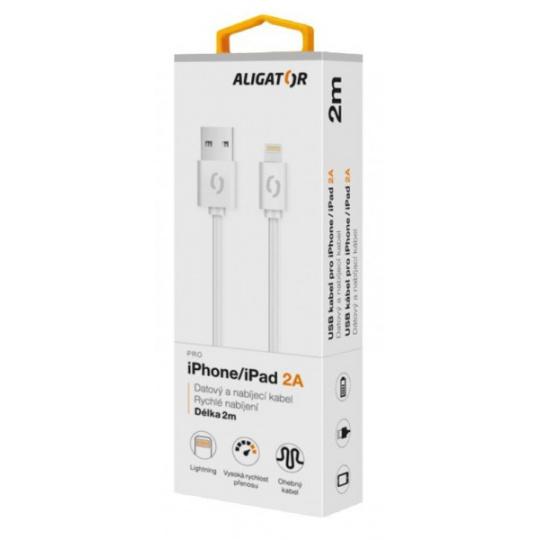 ALIGATOR Datový kabel 2A iPh lightnin 2 m bílý