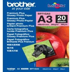 Brother papír BP71GA3, 20 listů, A3 Premium Glossy, 260g