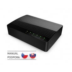 Tenda SG105 -  5x Gigabit Desktop Ethernet Switch, 10/100/1000 Mb/s, Auto MDI/MDIX, 10Gb/s, fanless
