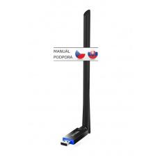 Tenda U10 WiFi AC USB Adapter, 650 Mb/s, 802.11 ac/a/b/g/n, anténa 6 dBi,Windows, autoinstalace