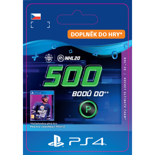 ESD CZ PS4 - NHL 20 - 500 Points Pack