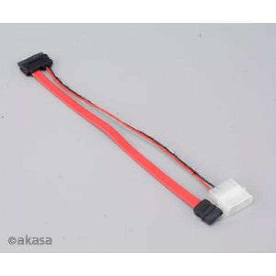 AKASA - slimline SATA na SATA data a power - 20 cm
