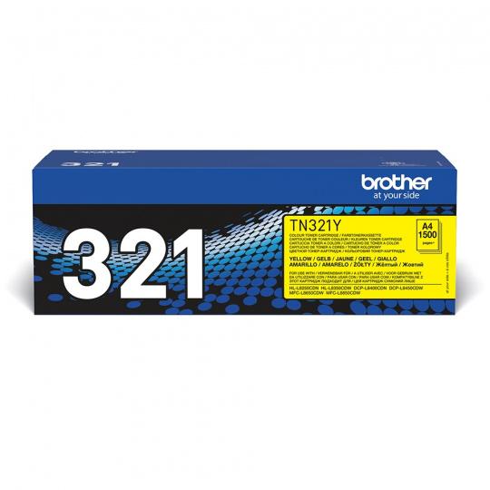 Brother TN-321Y, toner yellow, 1 500 str.