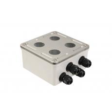 Průmyslový box Solarix s nerez čelem pro 4 x IP67