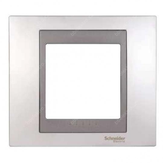 Top rámeček 1-násobný Cromo mat/Grafit