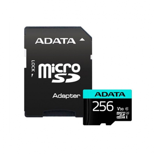 ADATA MicroSDXC 256GB U3 V30S až 95MB/s + adapter