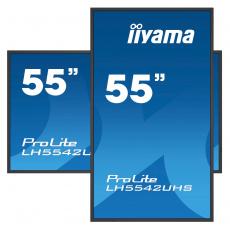 "55"" iiyama LH5542UHS-B3: IPS, 4K UHD, 500cd/m2, 18/7, LAN, Android 8.0, černý"
