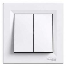 Asfora - Přepínač sériový, ř.5, bezšroubový - bílá