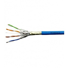 Kabel F/FTP Cat.6a 500 MHz 4x2xAWG23, LS0H modrý, Dca, 500m