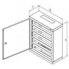 Rozvaděč instalační na omítku 760x600x250 plech.dv
