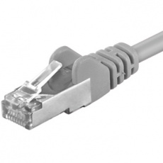 Premiumcord Patch kabel CAT6a S-FTP, RJ45-RJ45, AWG 26/7 0,5m, šedá