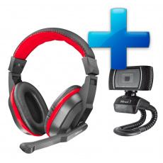 TRUST ZIVA Gaming Headset, webkamera, sluchátka