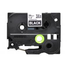TZE-365 - bílý tisk na černé, šířka 36 mm
