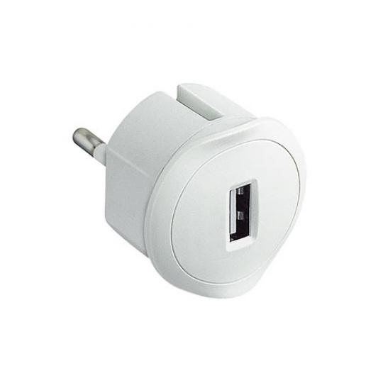 USB adaptér do zásuvky bílý