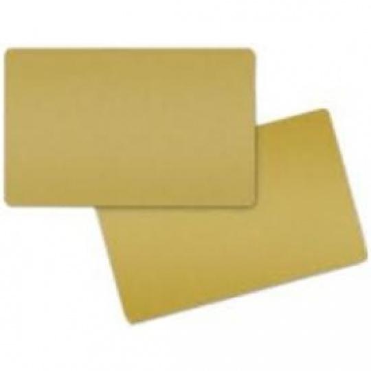 COLOR PVC CARD - GOLD METALLIC, 30 MIL (500 CARDS)