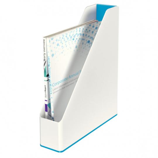 Stojan na časopisy dvoubarevný Leitz WOW, Modrá, 4 ks
