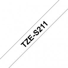 TZE-S211, bílá/černá, 6mm