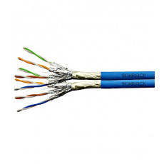 Kabel F/FTP Cat.6a 500 MHz 2x(4x2xAWG23),LS0H modrý,Dca,500m